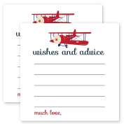 Aeroplane Advice Cards Pack of 25 for Boys Baby Shower