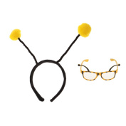 MonkeyJack Funny Yellow Insect Bumble Bee Hairband Eyeglasses Glasses Eyewear Dressing up Party Prop Accessory Gifts