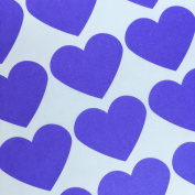 Bakers Bling Jumbo Heart Stickers, 30 Purple Heart Stickers