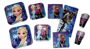 Frozen Magic 23cm Plates (16) 18cm Plates (16) Napkins (32) Cups (16) Table Cover