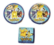 Pokemon Party Bundle 23cm Plates (16) Napkins