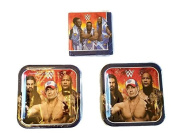 Grand Slammin' WWE Birthday Party Bundle 23cm Plates (16) Lunch Napkins