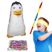 Pinatas Penguin Kit Including Piñata, Buster Stick, Bandana, Candy Filler