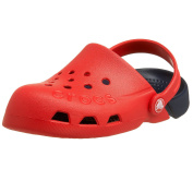 Crocs Kids Electro Mules And Clogs Sandal Red/Navy Blue UK 2