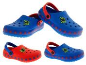 De Fonseca Boys Sabotis Blue Spider Beach Clogs Mule Sandals UK 2.5