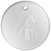 11 x 34mm 'Virgin Mary' Clear Pendants / Charms