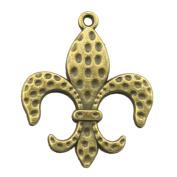 NEWME 18pcs 31x26mm fleur de lis Charms Pendant For DIY Jewellery Making Wholesale Crafting Handmade Bracelet Necklace Key Chain Bag Accessories