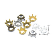 Hollow Crown Charms Pendants Mix DIY for Jewellery Making and Crafting -80PCS