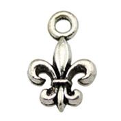 NEWME 80pcs 14x9mm fleur de lis Charms Pendant For DIY Jewellery Making Wholesale Crafting Handmade Bracelet Necklace Key Chain Bag Accessories