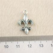 NEWME 40pcs 23x14mm fleur de lis Charms Pendant For DIY Jewellery Making Wholesale Crafting Handmade Bracelet Necklace Key Chain Bag Accessories