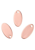 Angel Malone ® 3 x 24mm Designer Quality Rose Gold OVAL DOG TAGS BLANKS Pendant Charm Jewellery Making Findings