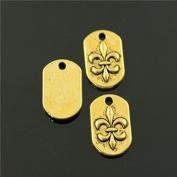NEWME 70pcs 14x8mm fleur de lis Charms Pendant For DIY Jewellery Making Wholesale Crafting Handmade Bracelet Necklace Key Chain Bag Accessories