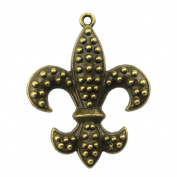 NEWME 12pcs 40x32mm fleur de lis Charms Pendant For DIY Jewellery Making Wholesale Crafting Handmade Bracelet Necklace Key Chain Bag Accessories