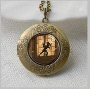 Jewellery Locket , Necklace Locket Peter Pan Art Pendant Locket Jewellery Locket