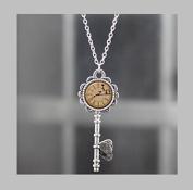 Key Necklace .Peter Pan Jewellery Key . Peter Pan Art Pendant Key Jewellery