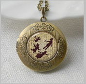 Peter Pan Jewellery Locket , Peter Pan Necklace Locket Peter Pan Art Pendant Locket Jewellery