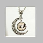 Charm Crescent Moon Never Grow up Peter Pan Quote Jewellery, Peter Pan Necklace Peter Pan Art Pendant Jewellery