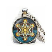 Metatron's Cube pendant, Sacred geometry jewellery, Geometric necklace, Sacred geometry necklace, Jewellery for men,