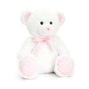 Keel Toys 34cm Baby White/Pink Spotty Bear Plush Toy (34cm )