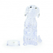 Original 3D Crystal Puzzle, Sacow Cute Dog Crystal Puzzle DIY Gadget Blocks Building Toys
