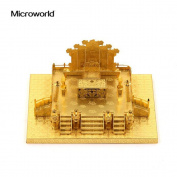 Microworld 3D Metal Nano Puzzle Zhengda Guangming Palace Building Assemble Model Kit J039-G DIY 3D Laser Cut Jigsaw Toy