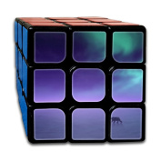 Polar Bear Aurora Borealis Northern Lights 333 Super-durable Cube,Easy Turning And Smooth Play, Developing Intelligence
