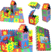 Kimanli 36Pcs Floor Puzzle Number Alphabet Foam Maths Educational Toy Gift