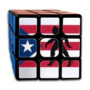 Puerto Rico Flag Bigfoot Sasquatch In High Heels Rubik's Cube Game Brain Training Game Match Puzzle Toy For Kids Or Adults Speed Cube Stickerless Magic Cube