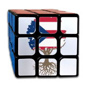 Tree Of Life With Puerto Rico Flag Speed Cube Puzzle Brain Training Game Match Puzzle Toy For Kids Or Adults Speed Cube Stickerless Magic Cube