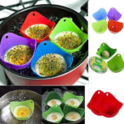 OLIVE US-4Pcs Silicone Egg Poacher Cook Poach Pods Kitchen Cookware Poached Baking Cup