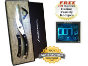 HeavyDuty Kitchen Scissors Meat Cutting Shears Springloaded and Digital All Purpose Timer with Loud Sound Perfect for Cooking,Baking and Tracking Time