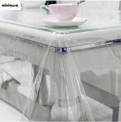 Home Basics Super Clear Oblong Heavy Duty PVC Tablecloth Cover Protector - 4 Sizes