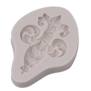 Rurah Totem Flower Silicone Fondant Moulds Chocolate Candy Soap Cake Decorating Tools,light Grey