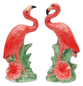 CG Collectible Salt and Pepper Figurines with Flamingos, 5.1cm , Pink