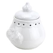 Italian Garlic Keeper Ceramic, White Pottery Garlic Keeper Terra Cotta