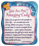 Blue Mountain Arts You Are One Amazing Lady by Lorrie Westfall Sculpted Resin Magnet