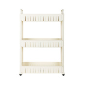 3-Tier Gap Rack, Kitchen Slim Slide out Storage Tower Pantry, Storage Rack with Wheels for Laundry, Bathroom and Kitchen.