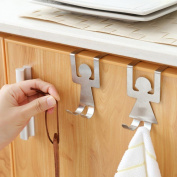 Transer Kitchen Bathroom Storage Rack Cupboard Hanging Carbon Steel Hook Hanger Chest Cabinet Over Door Storage Organiser Holder