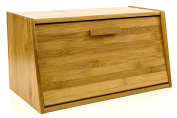 Bread Box Pastry Storage Bread Storage with Lid Made of Organic Bamboo Wood- Sturdy, Lightweight and Elegant by Intriom Bamboo Collection