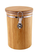 JapanBargain S-4094, Bamboo Food Coffee Canister Jar with Lid 13cm x 19cm , Large