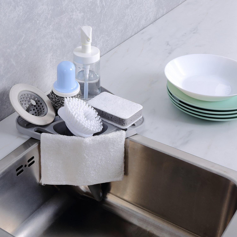 kitchen sink caddy sponge holder scratcher holder cleaning brush rh fishpond co nz kitchen sink organizer ideas kitchen sink organizers accessories