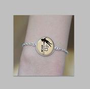 Never Grow up Peter Pan Quote Jewellery Bracelet , Peter Pan Bracelet Peter Pan Art Bracelet Jewellery Bracelet Silver Picture Jewellery Gifts for Women Bracelet