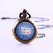 Necklace Pocket Watch Hedgehog