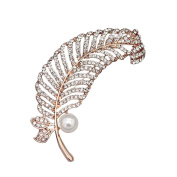 Youkara Crystal Diamond Brooch Pin Brooches For Women Girls Jewellery