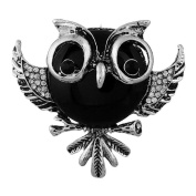 Youkara Black Owl shape Brooches Brooch Pin Brooches For Women Girls Jewellery