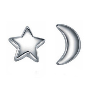 Wicemoon Small Fresh Fairy Tale Moon and Stars Ear Nail Studs Jewellery for Women Girl