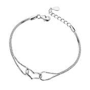 Cosanter Fashion Silver Bracelet Heart Bracelet Jewellery