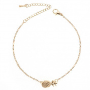Cosanter Alloy Pineapple Bracelet Fashion Trend Cute Girls Fruit Jewellery Gold