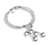 Cosanter Bracelet Fashion Silver-plated Bracelet Heart-shaped Jewellery Gift