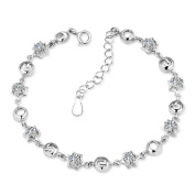 Cosanter Silver Jewellery I Love You LEVO Letters Silver Plated Bracelet